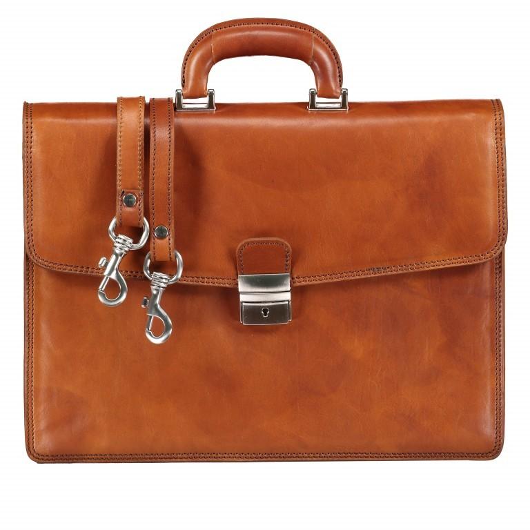 Aktentasche, Farbe: braun, cognac, Marke: Hausfelder, Abmessungen in cm: 40.0x30.0x8.0, Bild 1 von 1