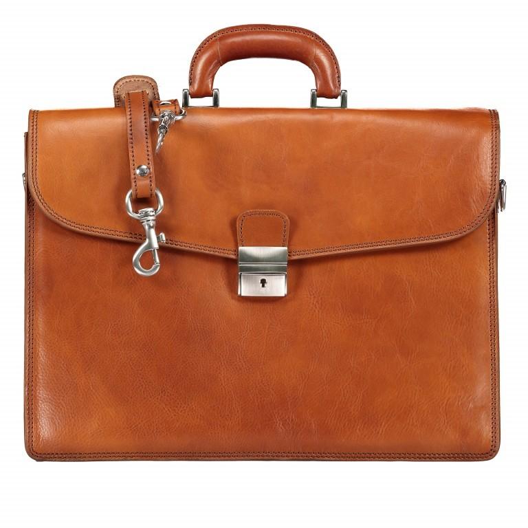 Aktentasche, Farbe: braun, cognac, Marke: Hausfelder, Abmessungen in cm: 41.0x30.0x15.0, Bild 1 von 1