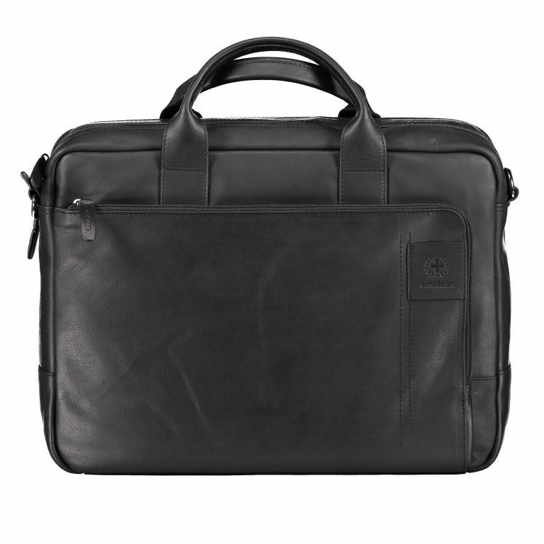 Aktentasche Hyde Park Briefbag SHZ, Farbe: schwarz, cognac, Marke: Strellson, Abmessungen in cm: 40.0x30.0x10.0, Bild 1 von 1