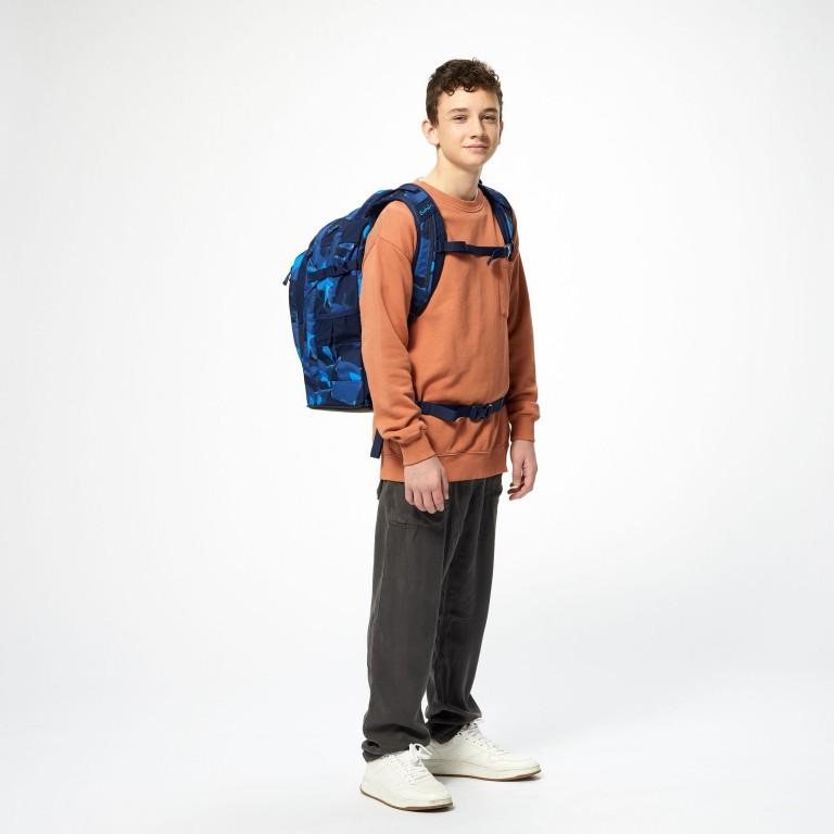 Rucksack Pack, Farbe: schwarz, anthrazit, grau, blau/petrol, grün/oliv, rot/weinrot, flieder/lila, rosa/pink, orange, gelb, bunt, Marke: Satch, Abmessungen in cm: 30.0x45.0x22.0, Bild 8 von 12