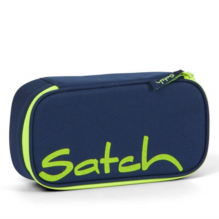 Schlamperbox, Farbe: schwarz, anthrazit, grau, blau/petrol, grün/oliv, rot/weinrot, flieder/lila, rosa/pink, orange, gelb, bunt, Marke: Satch, Abmessungen in cm: 22.0x6.0x10.0, Bild 1 von 3