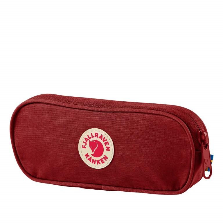 Schlampermäppchen Kånken Pen Case, Farbe: schwarz, blau/petrol, taupe/khaki, grün/oliv, rot/weinrot, rosa/pink, gelb, Marke: Fjällräven, Abmessungen in cm: 19.0x7.0x2.0, Bild 1 von 1