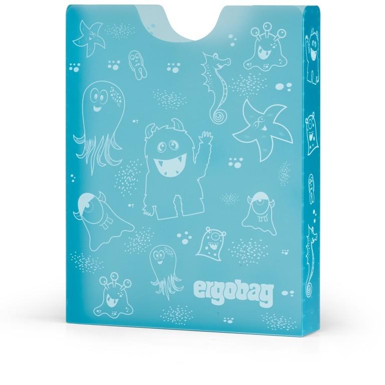 Heftbox, Farbe: blau/petrol, flieder/lila, rosa/pink, gelb, Marke: Ergobag, Abmessungen in cm: 24.0x31.0x5.0, Bild 1 von 1