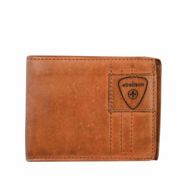 Geldbörse Upminster Billfold H6 Cognac, Farbe: cognac, Marke: Strellson, EAN: 4053533404506, Abmessungen in cm: 12.0x9.5x2.0, Bild 1 von 2