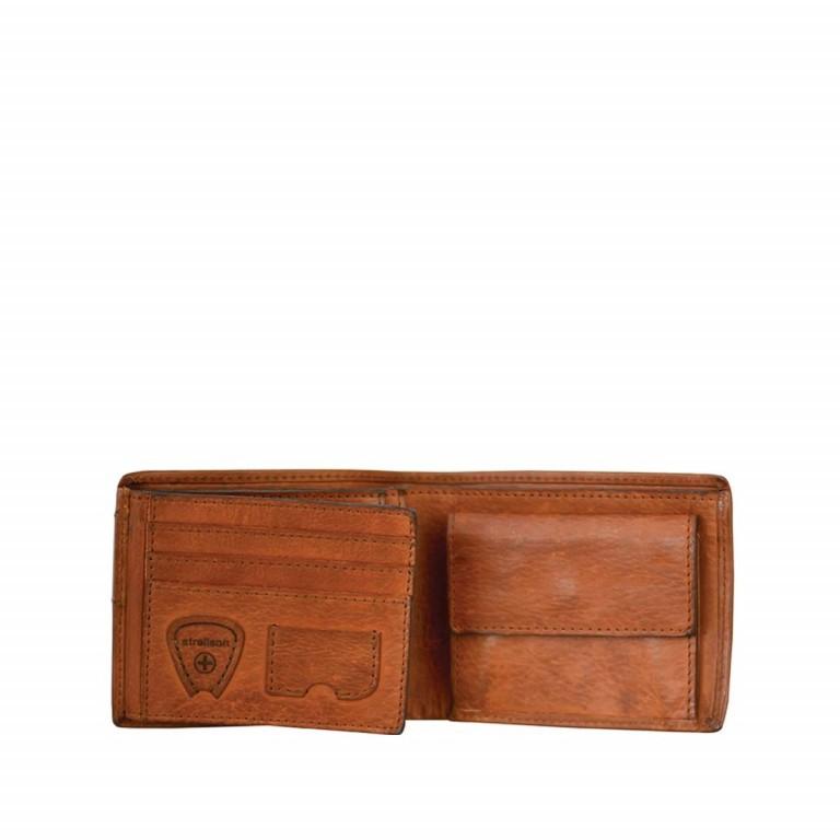 Geldbörse Upminster Billfold H6 Cognac, Farbe: cognac, Marke: Strellson, EAN: 4053533404506, Abmessungen in cm: 12.0x9.5x2.0, Bild 2 von 2