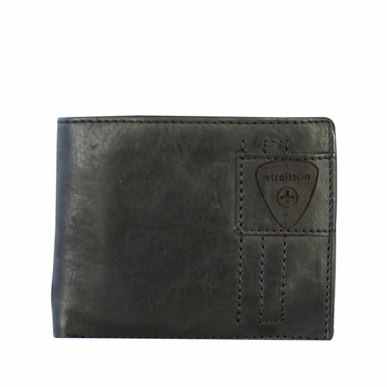 Geldbörse Upminster Billfold H6 Black, Farbe: schwarz, Marke: Strellson, EAN: 4053533404513, Abmessungen in cm: 12.0x9.5x2.0, Bild 1 von 2