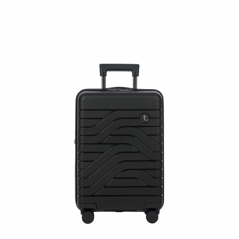 Koffer B Y by Brics Ulisse 55 cm, Farbe: schwarz, blau/petrol, gelb, Marke: Brics, Abmessungen in cm: 37.0x55.0x23.0, Bild 1 von 1
