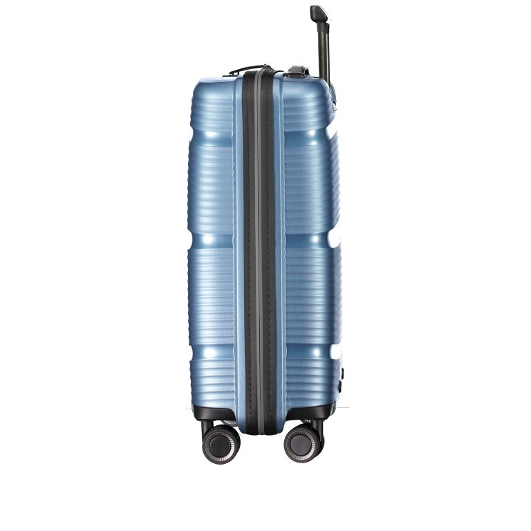 Koffer PP11 55 cm, Farbe: grau, blau/petrol, rot/weinrot, rosa/pink, Marke: Franky, Abmessungen in cm: 39.5x55.0x20.0, Bild 2 von 9
