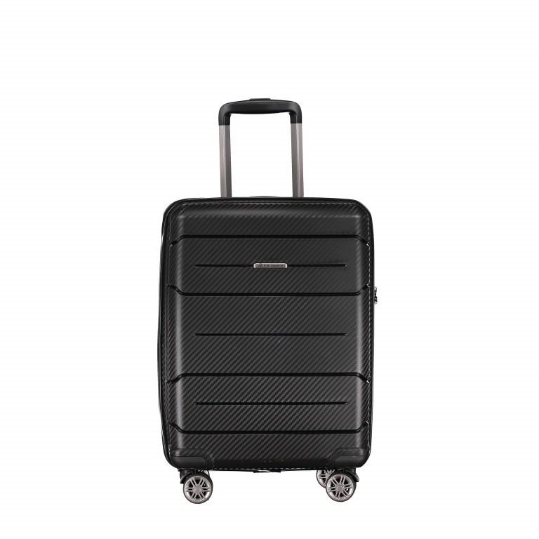 Koffer PP19 55 cm, Farbe: schwarz, blau/petrol, grün/oliv, orange, Marke: Franky, Abmessungen in cm: 37.0x55.0x20.0, Bild 1 von 1