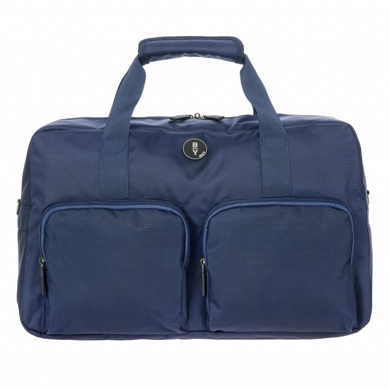 Reisetasche B Y by Brics Itaca 47cm, Farbe: schwarz, blau/petrol, gelb, Marke: Brics, Abmessungen in cm: 47.0x27.0x19.0, Bild 1 von 1