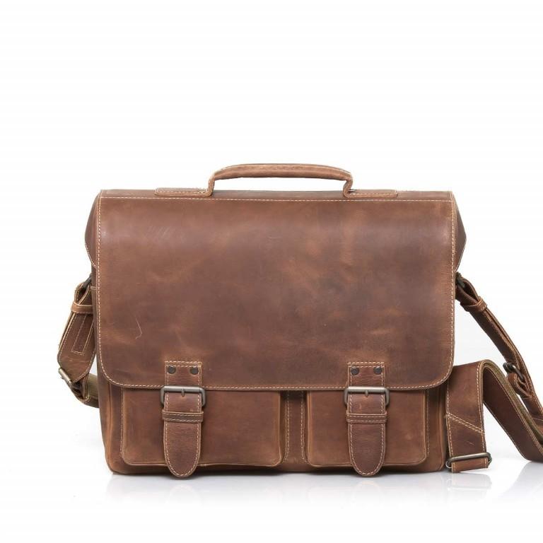 Aktentasche Hunter Finn 15 Zoll Vintage Tan, Farbe: cognac, Marke: Aunts & Uncles, EAN: 4250394905177, Abmessungen in cm: 38.0x31.0x15.0, Bild 1 von 5