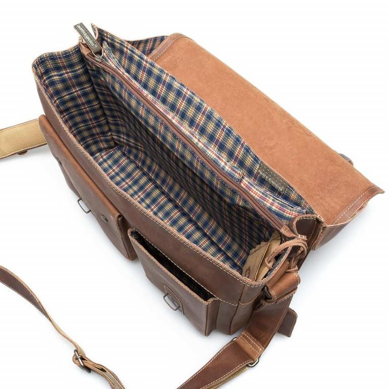 Aktentasche Hunter Finn 15 Zoll Vintage Tan, Farbe: cognac, Marke: Aunts & Uncles, EAN: 4250394905177, Abmessungen in cm: 38.0x31.0x15.0, Bild 2 von 5