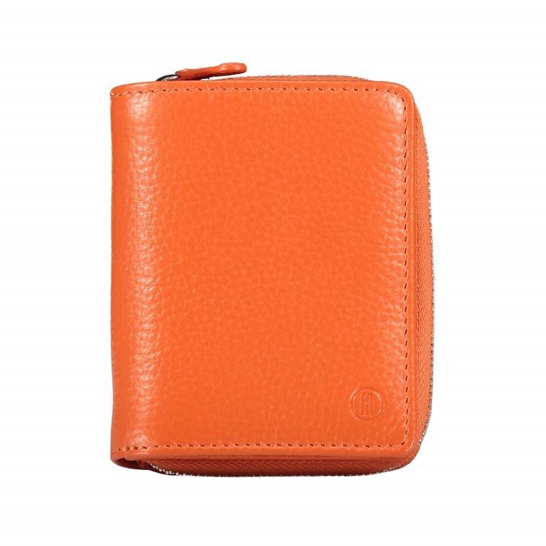 Geldbörse Amra Bradley mit RFID-Schutz, Farbe: schwarz, blau/petrol, rosa/pink, orange, gelb, Marke: Hausfelder, Abmessungen in cm: 9.0x11.0x3.0, Bild 1 von 1