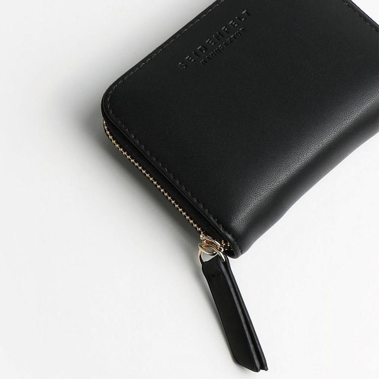 Geldbörse Ylva, Farbe: schwarz, grau, taupe/khaki, grün/oliv, gelb, beige, Marke: Seidenfelt, Abmessungen in cm: 11.0x8.0x2.0, Bild 5 von 5