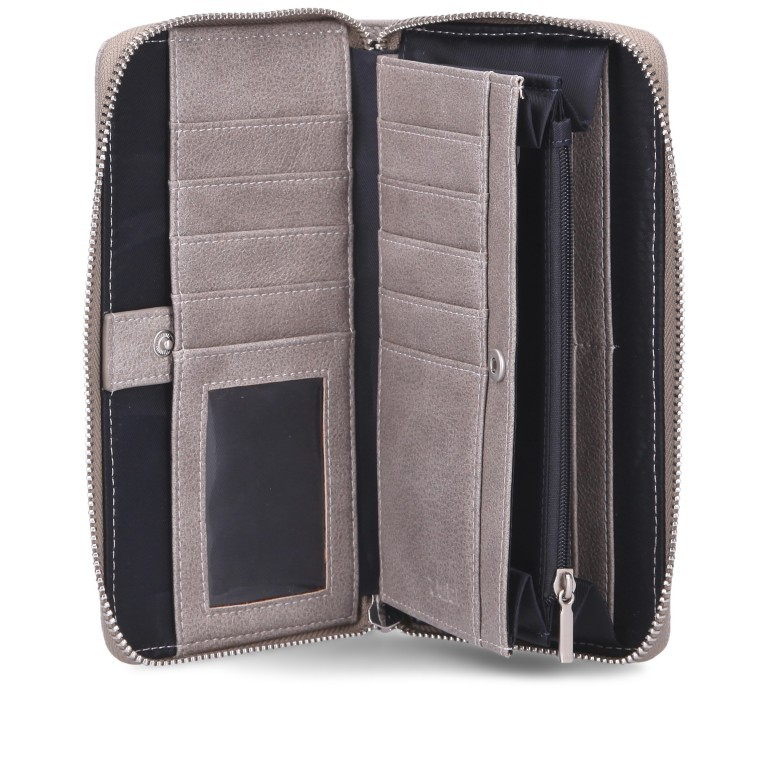 Geldbörse Mademoiselle Wallet MW2, Farbe: schwarz, anthrazit, grau, blau/petrol, cognac, taupe/khaki, rot/weinrot, rosa/pink, Marke: Zwei, Abmessungen in cm: 19.5x10.0x3.0, Bild 5 von 6