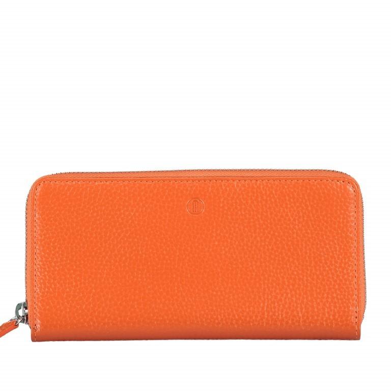 Geldbörse Amra Bradley mit RFID-Funktion, Farbe: schwarz, grau, blau/petrol, rosa/pink, orange, gelb, Marke: Hausfelder, Abmessungen in cm: 19.0x9.5x2.0, Bild 1 von 1