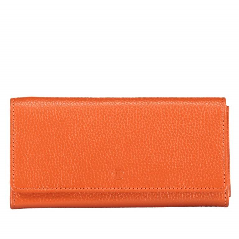 Geldbörse Amra Bradley mit RFID-Funktion, Farbe: schwarz, blau/petrol, rosa/pink, orange, gelb, Marke: Hausfelder, Abmessungen in cm: 19.0x9.5x2.5, Bild 1 von 1