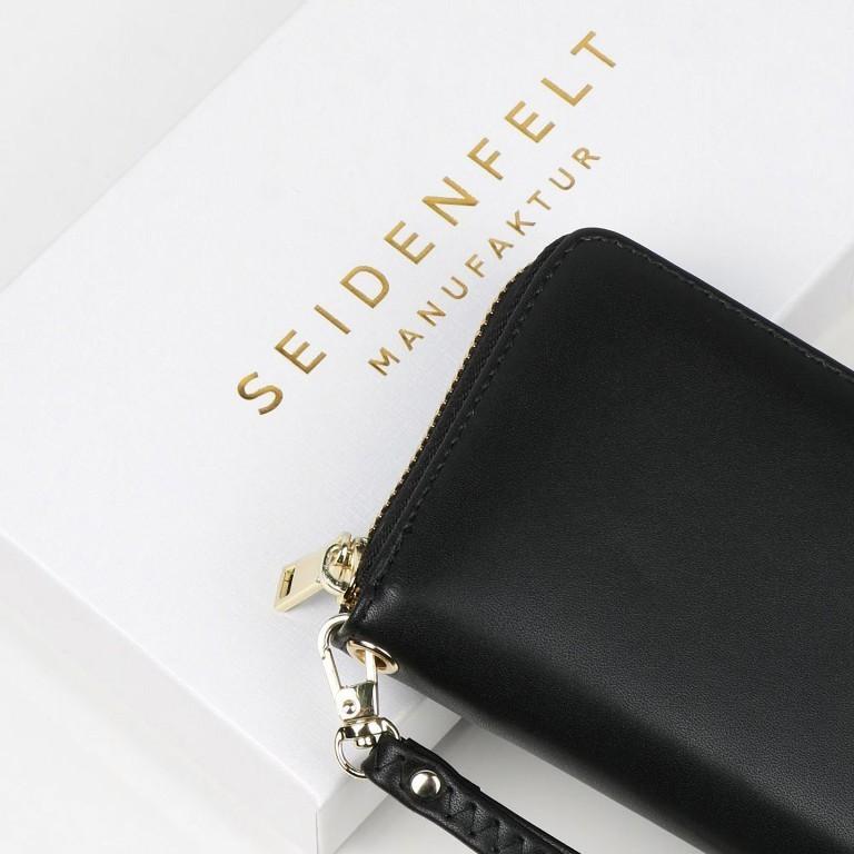 Geldbörse Smilla, Farbe: schwarz, grau, taupe/khaki, grün/oliv, gelb, beige, Marke: Seidenfelt, Abmessungen in cm: 19.0x9.5x2.5, Bild 5 von 5