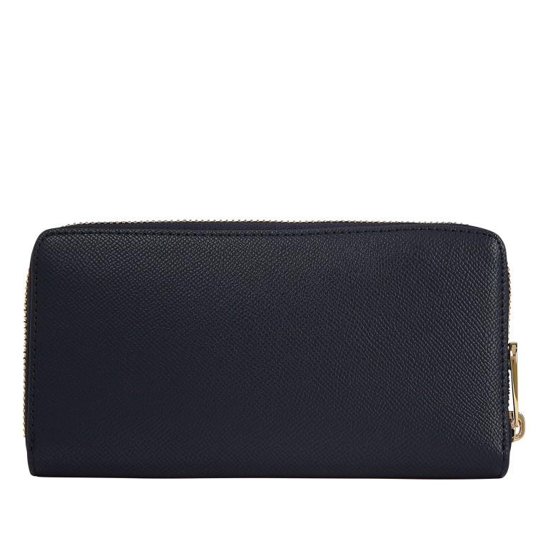 Geldbörse Club Large Zip Around Wallet, Farbe: schwarz, blau/petrol, Marke: Tommy Hilfiger, Abmessungen in cm: 19.0x10.0x2.0, Bild 2 von 2