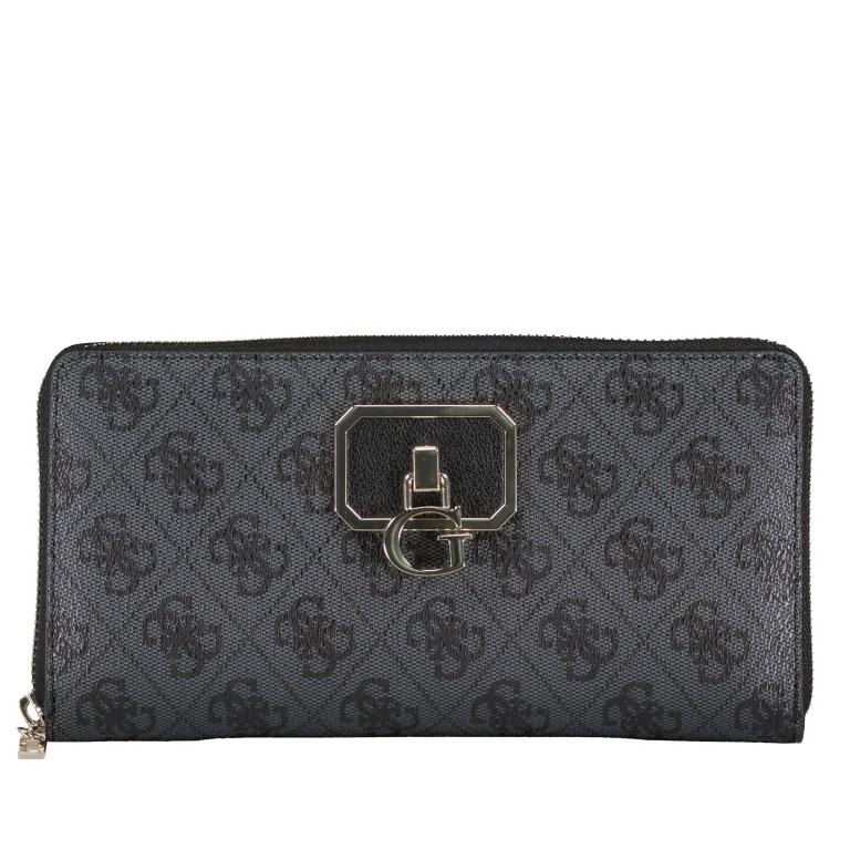 Geldbörse Alisa, Farbe: schwarz, braun, Marke: Guess, Abmessungen in cm: 21.0x11.5x2.0, Bild 1 von 3