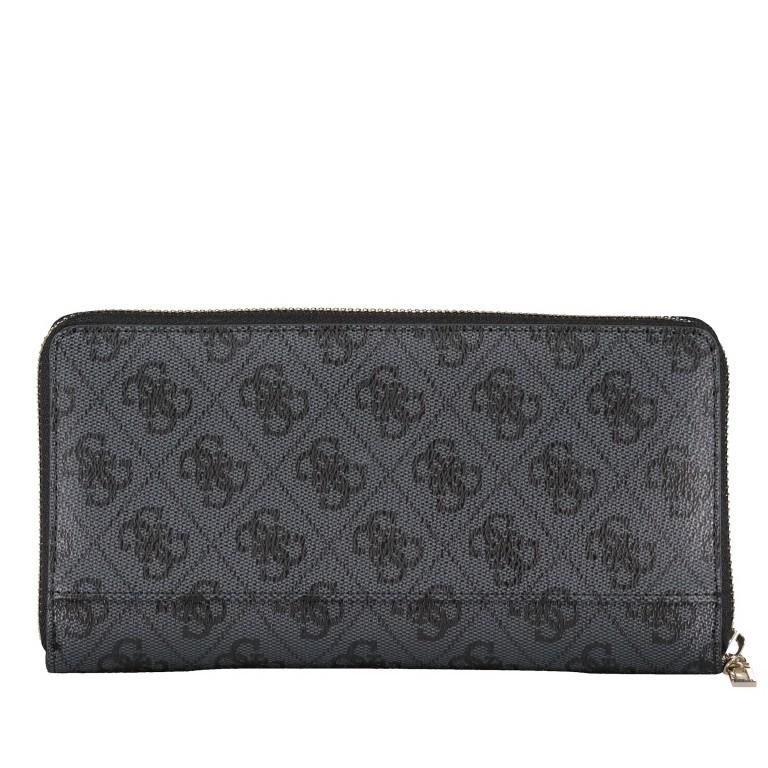 Geldbörse Alisa, Farbe: schwarz, braun, Marke: Guess, Abmessungen in cm: 21.0x11.5x2.0, Bild 2 von 3