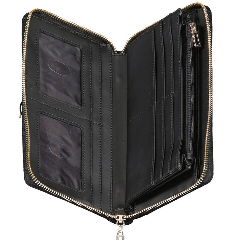 Geldbörse Alisa, Farbe: schwarz, braun, Marke: Guess, Abmessungen in cm: 21.0x11.5x2.0, Bild 3 von 3
