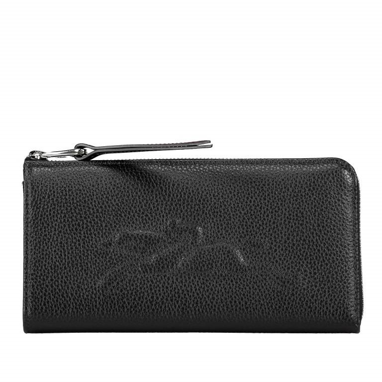 Geldbörse Le Foulonné 621-3418, Farbe: schwarz, blau/petrol, rot/weinrot, Marke: Longchamp, Abmessungen in cm: 20.0x10.0x2.0, Bild 1 von 1