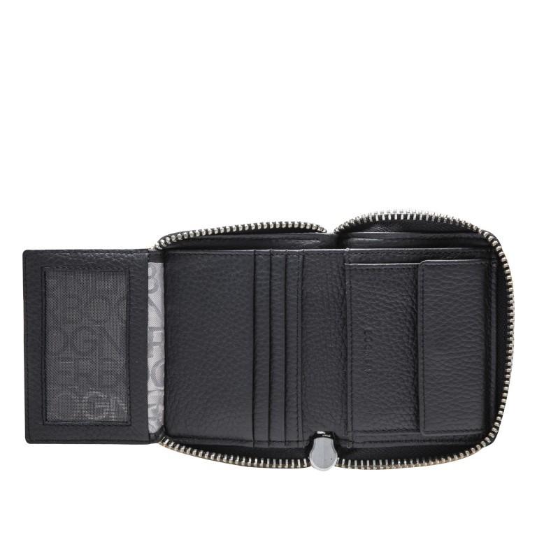 Geldbörse Sulden Dama, Farbe: schwarz, grau, blau/petrol, taupe/khaki, Marke: Bogner, Abmessungen in cm: 10.0x9.0x1.5, Bild 5 von 6