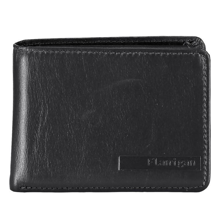 Geldbörse Alba 006, Farbe: schwarz, rot/weinrot, Marke: Flanigan, Abmessungen in cm: 10.0x7.5x2.0, Bild 1 von 1