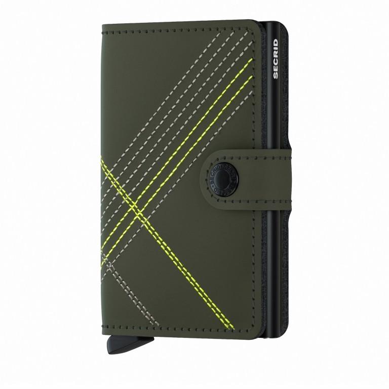 Geldbörse Miniwallet Stitch, Farbe: grün/oliv, orange, Marke: Secrid, Abmessungen in cm: 6.8x10.2x2.1, Bild 1 von 1
