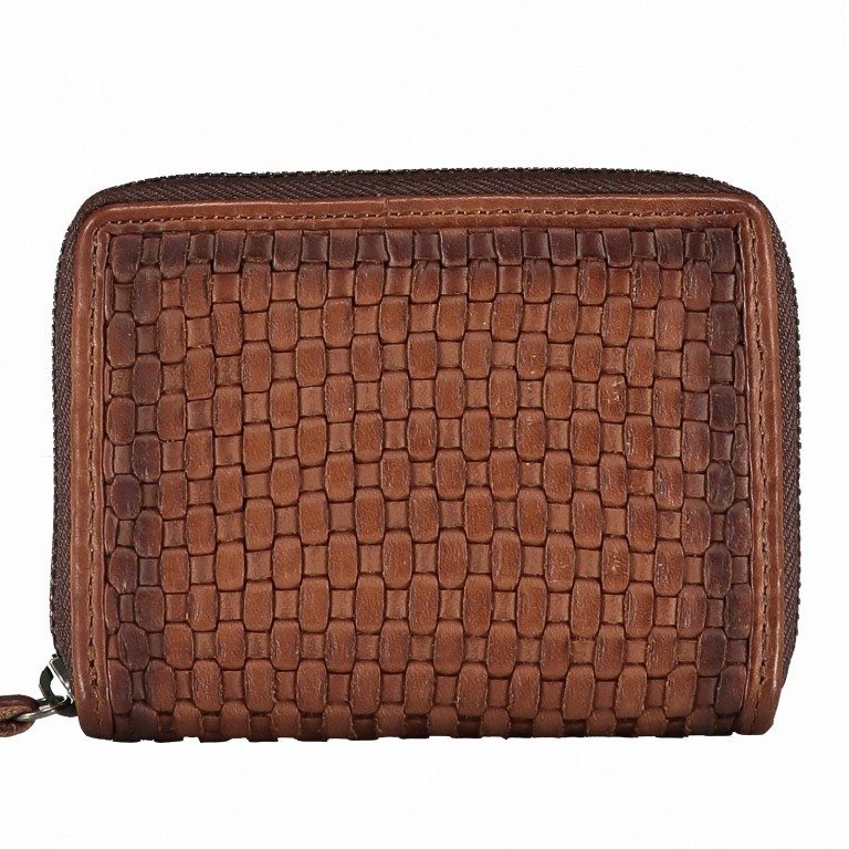Geldbörse Soft-Weaving Cyd B3.2225, Farbe: anthrazit, braun, cognac, Marke: Harbour 2nd, Abmessungen in cm: 10.5x8.5x2.0, Bild 1 von 1