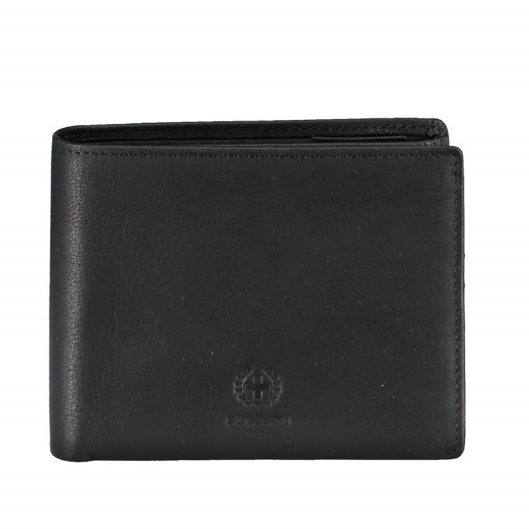 Geldbörse Blackwall Billfold H7, Farbe: schwarz, cognac, Marke: Strellson, Abmessungen in cm: 12.0x10.0x2.0, Bild 1 von 1