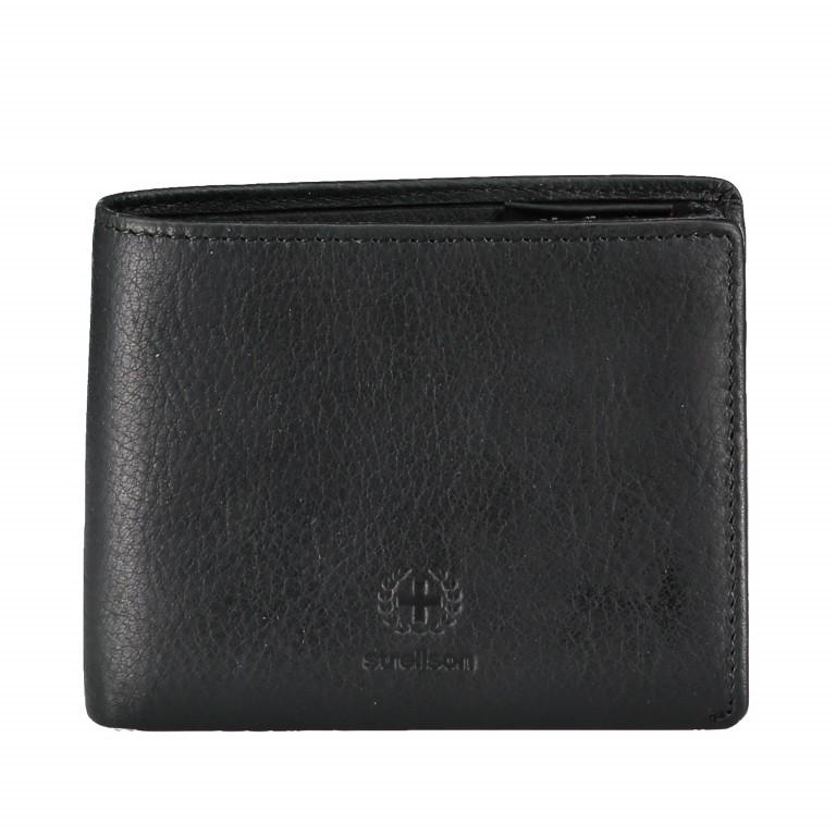 Geldbörse Blackwall Billfold H8, Farbe: schwarz, cognac, Marke: Strellson, Abmessungen in cm: 11.0x8.5x2.0, Bild 1 von 1
