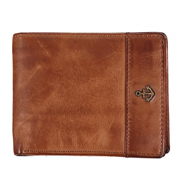 Geldbörse Cool-Casual Samsun B3.0333, Farbe: anthrazit, braun, cognac, Marke: Harbour 2nd, Abmessungen in cm: 12.5x9.5x2.5, Bild 1 von 1