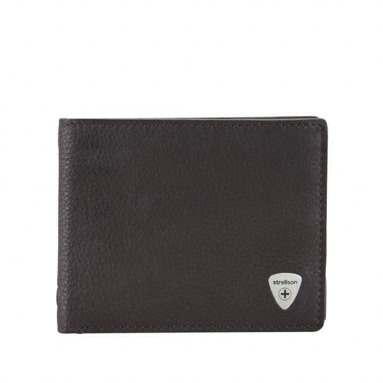 Geldbörse Harrison Billfold H8 Dark Brown, Farbe: braun, Marke: Strellson, EAN: 4053533015559, Abmessungen in cm: 12.0x9.5x2.5, Bild 1 von 2