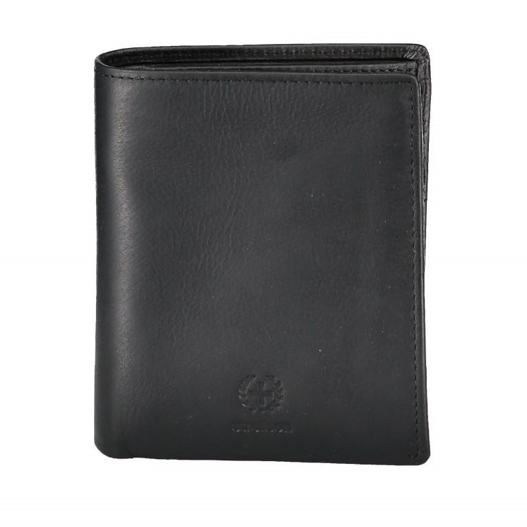 Geldbörse Blackwall Billfold V8, Farbe: schwarz, cognac, Marke: Strellson, Abmessungen in cm: 10.0x12.0x2.0, Bild 1 von 1