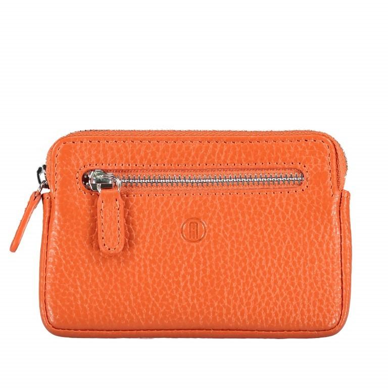 Schlüsseletui Amra Bradley mit RFID-Funktion, Farbe: schwarz, grau, blau/petrol, rosa/pink, orange, gelb, Marke: Hausfelder, Abmessungen in cm: 12.0x8.0x0.5, Bild 1 von 1