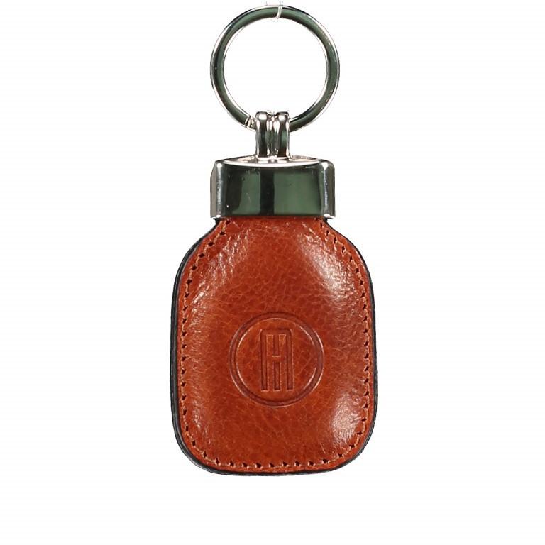 Schlüsselanhänger, Farbe: blau/petrol, braun, cognac, rot/weinrot, Marke: Hausfelder, Abmessungen in cm: 4.5x10.0x1.0, Bild 1 von 1
