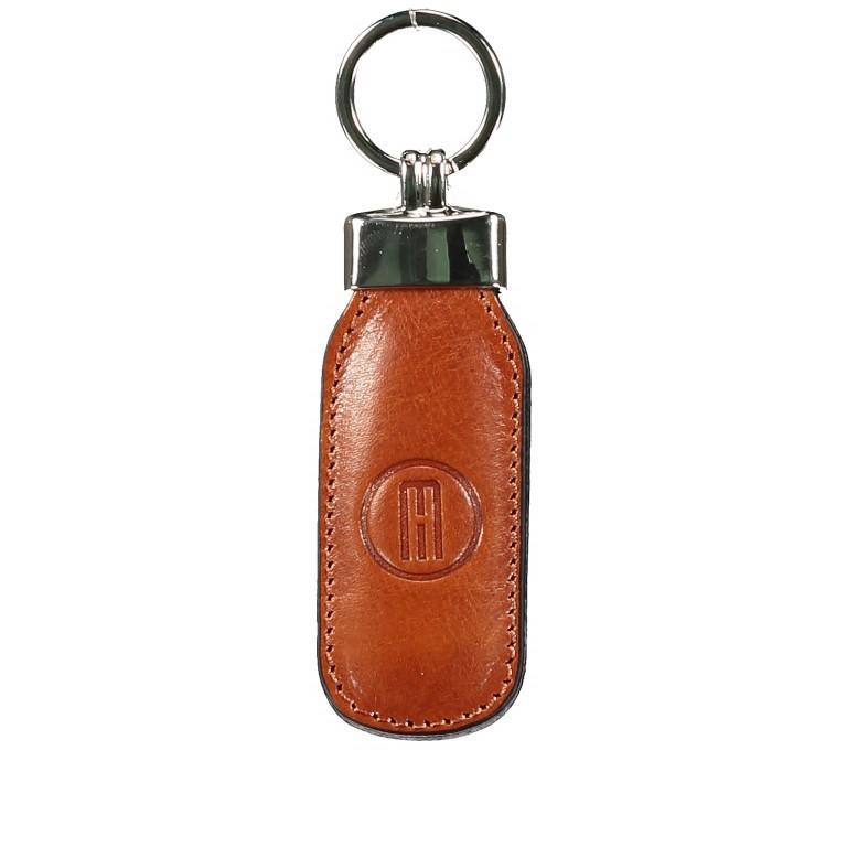 Schlüsselanhänger, Farbe: blau/petrol, braun, cognac, rot/weinrot, Marke: Hausfelder, Abmessungen in cm: 3.5x12.0x1.0, Bild 1 von 1