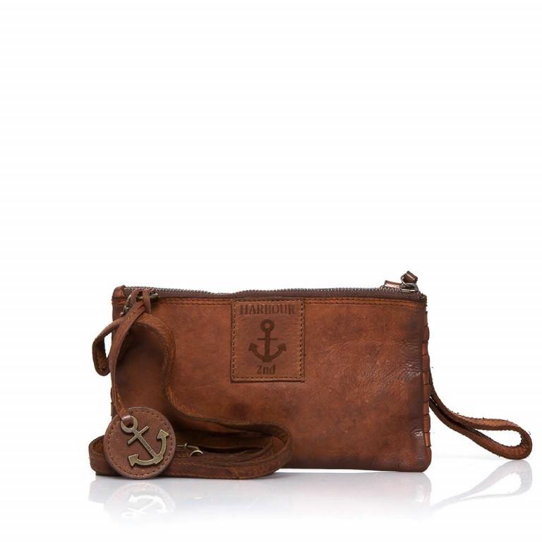Umhängetasche / Clutch Soft-Weaving Lillen B3.4795 Charming Cognac, Farbe: cognac, Marke: Harbour 2nd, EAN: 4046478019133, Abmessungen in cm: 23.0x13.0x2.0, Bild 2 von 7