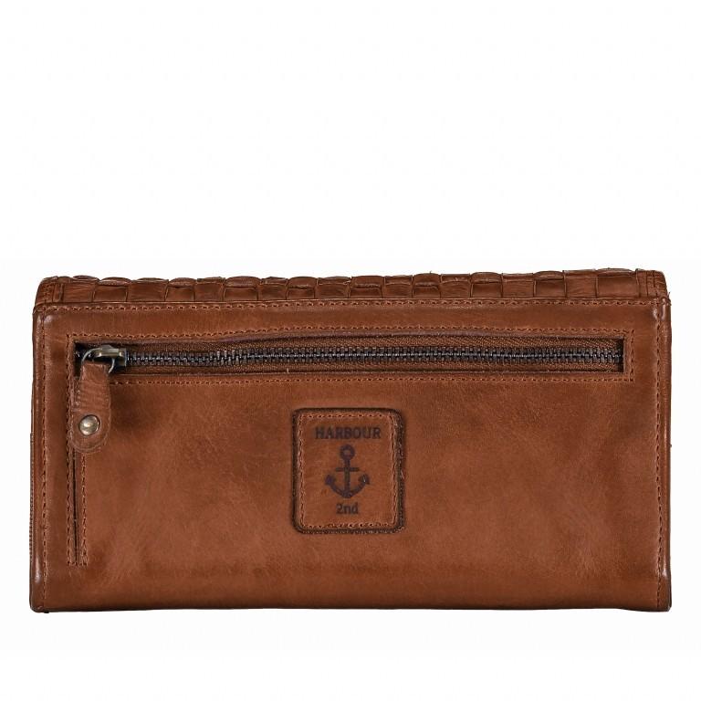 Geldbörse Soft-Weaving Adriane B3.9857 Charming Cognac, Farbe: cognac, Marke: Harbour 2nd, EAN: 4046478019188, Abmessungen in cm: 18.0x10.0x3.5, Bild 3 von 4