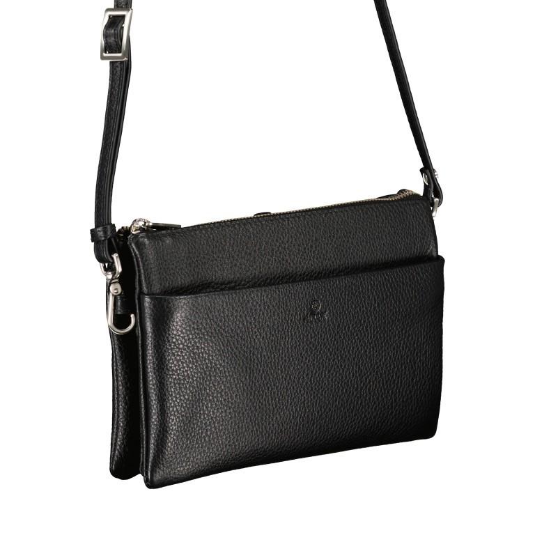 Umhängetasche / Clutch Cormorano Silja Black, Farbe: schwarz, Marke: Adax, EAN: 5705483160986, Abmessungen in cm: 23.0x14.0x3.0, Bild 3 von 5