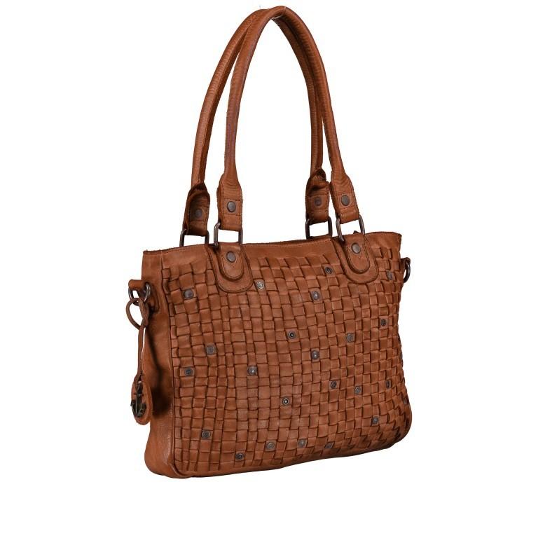 Shopper Soft-Weaving Ysabel B3.4722 Charming Cognac, Farbe: cognac, Marke: Harbour 2nd, EAN: 4046478020504, Abmessungen in cm: 32.0x25.0x5.0, Bild 2 von 8