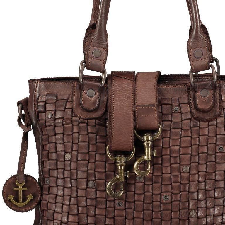 Shopper Soft-Weaving Ysabel B3.4722 Charming Cognac, Farbe: cognac, Marke: Harbour 2nd, EAN: 4046478020504, Abmessungen in cm: 32.0x25.0x5.0, Bild 8 von 8