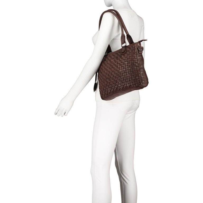 Shopper Soft-Weaving Ysabel B3.4722 Charming Cognac, Farbe: cognac, Marke: Harbour 2nd, EAN: 4046478020504, Abmessungen in cm: 32.0x25.0x5.0, Bild 4 von 8