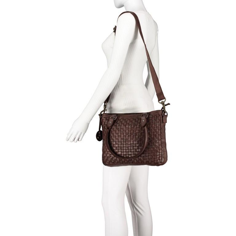 Shopper Soft-Weaving Ysabel B3.4722 Charming Cognac, Farbe: cognac, Marke: Harbour 2nd, EAN: 4046478020504, Abmessungen in cm: 32.0x25.0x5.0, Bild 5 von 8