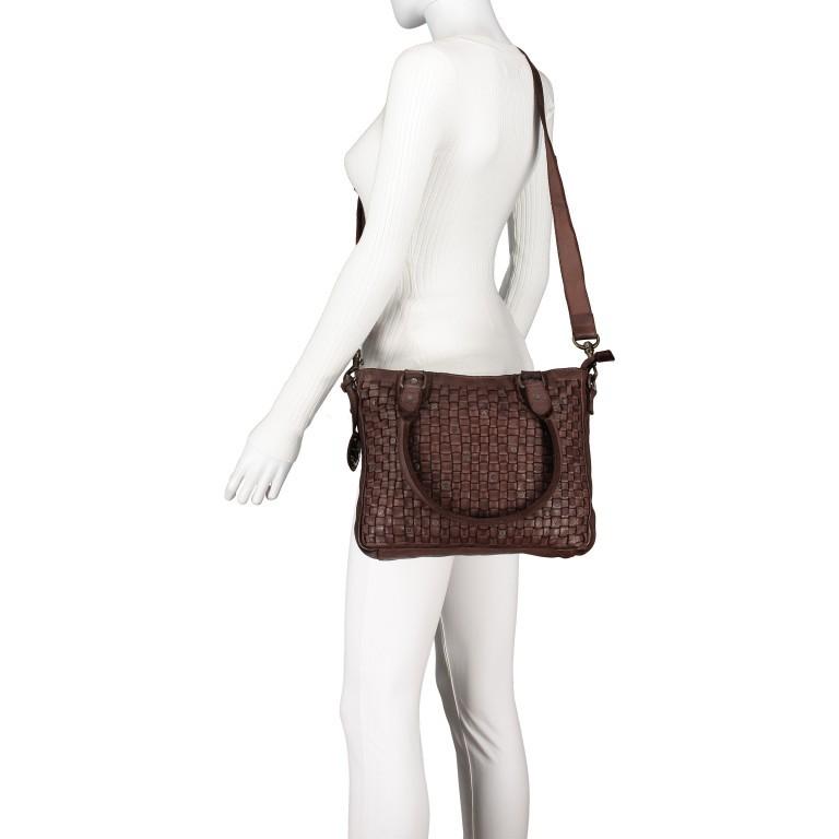 Shopper Soft-Weaving Ysabel B3.4722 Charming Cognac, Farbe: cognac, Marke: Harbour 2nd, EAN: 4046478020504, Abmessungen in cm: 32.0x25.0x5.0, Bild 6 von 8