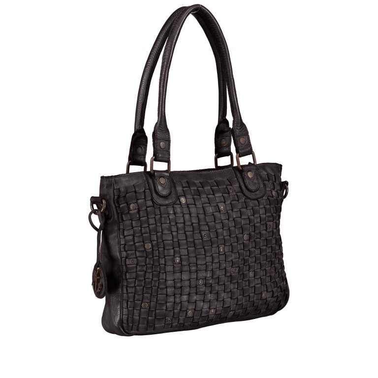 Shopper Soft-Weaving Ysabel B3.4722 Dark Ash, Farbe: anthrazit, Marke: Harbour 2nd, EAN: 4046478020498, Abmessungen in cm: 32.0x25.0x5.0, Bild 2 von 8