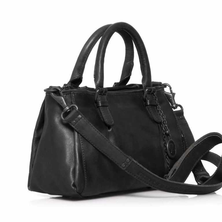 Handtasche Grandma's Luxury Club Mrs.Choco Sprinkle Black Smoke, Farbe: schwarz, Marke: Aunts & Uncles, EAN: 4250394923218, Abmessungen in cm: 30.0x21.0x12.0, Bild 3 von 5