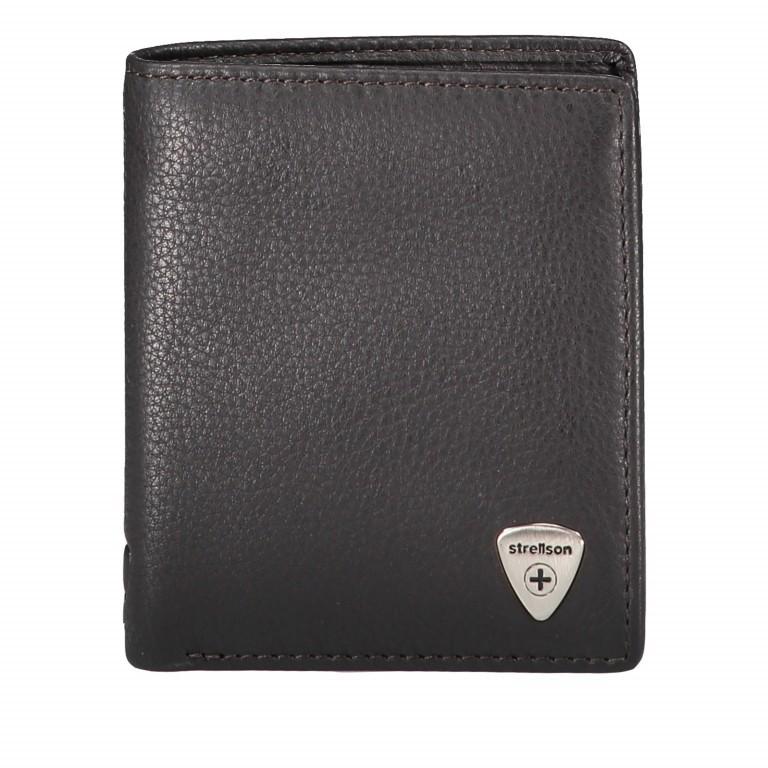 Geldbörse Harrison Billfold Q6 Dark Brown, Farbe: braun, Marke: Strellson, EAN: 4053533015573, Abmessungen in cm: 9.0x10.5x2.0, Bild 1 von 3
